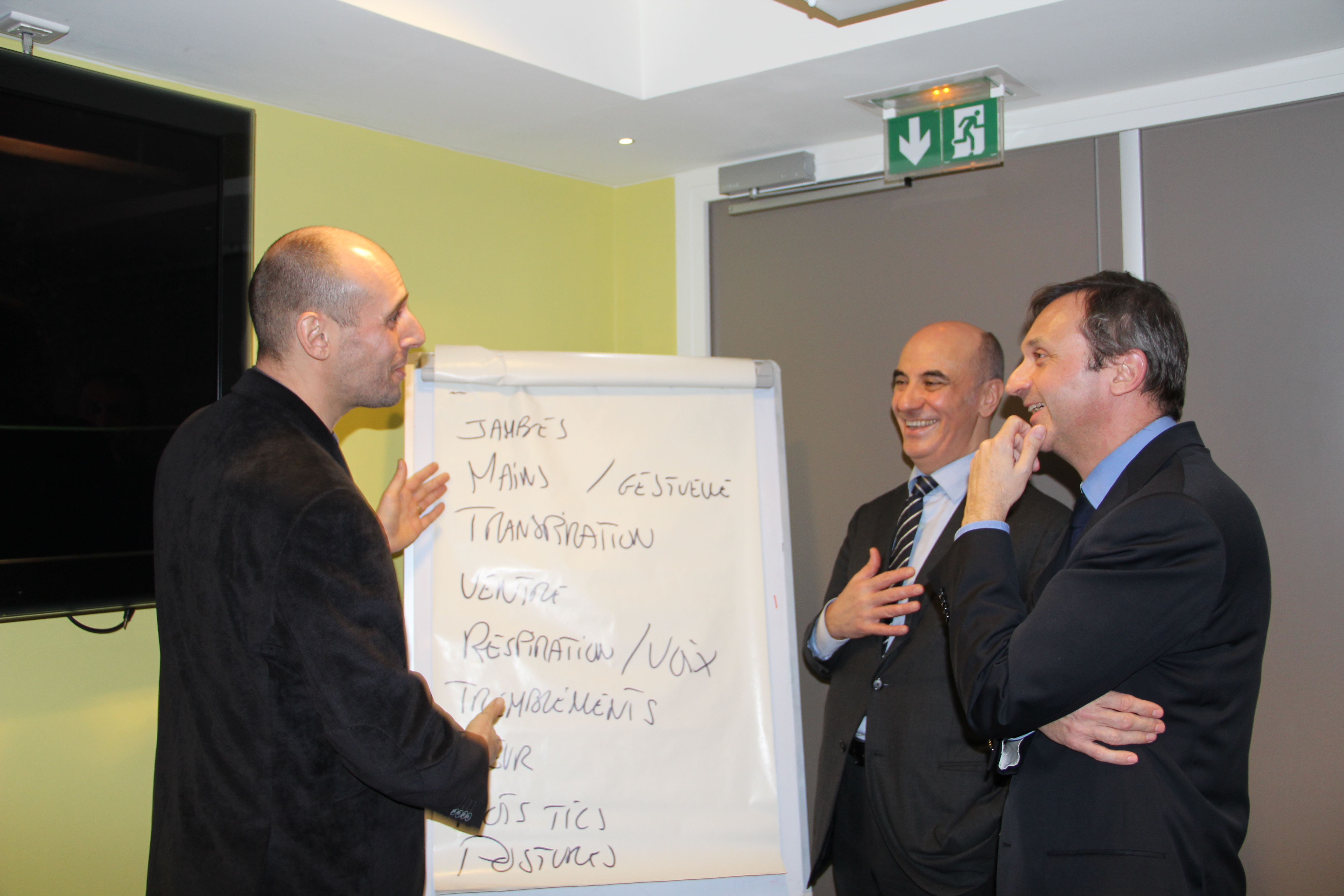 Laurent PHILIBERT, Directeur pédagogique, Vincent SOULIER, Directeur, cabinet Personnalité, et Jean-Gabriel BLIEK, Directeur du développement économique et de l'emploi de la Ville de Neuilly-sur-Seine